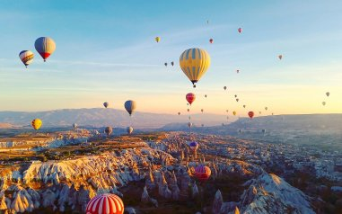 Ballooning Festival At Cappadocia During Sunrise